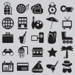 Set of tourism and recreation icons - part 1 — Stock Vector
