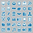 Set of social media stickers for design — Stock Vector