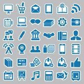 Набор наклеек социальных средств массовой информации для дизайна — Cтоковый вектор