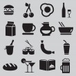 Set of food icons — Stock Vector