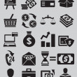 Stock Vector: Set of business and money icons - part 1