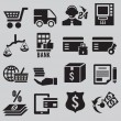 Stock Vector: Set of business and money icons - part 3