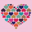 Concept of heart with love — Imagen vectorial