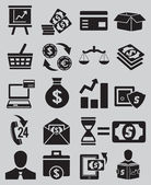 Set of business and money icons - part 1 — Stock Vector
