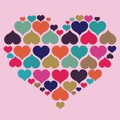 Conceito de coração com amor — Vetorial Stock