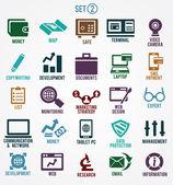 Ensemble d'icônes de services internet - partie 2 — Vecteur