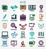 Set of internet services icons - part 2 — Stockvector