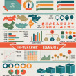 Set of infographic elements for design — Imagen vectorial