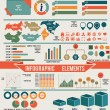 Set of infographic elements for design — Imagens vectoriais em stock