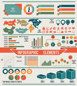 Set of infographic elements for design — Stock Vector