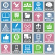 Set of seo icons - part 1 - Stock vektor