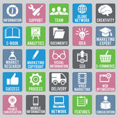 Set of seo icons - part 1 — Stock Vector