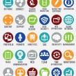 Set of internet services icons — Vector de stock