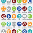 Stock Vector: Set of internet services icons
