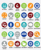 Set of internet services icons — Vecteur