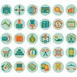 Set of social media marketing icons — Stock Vector