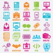 Set of seo and internet service icons - part 3 - Stock Vector
