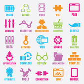Set of seo and internet service icons - part 2 — Stock Vector