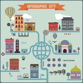 Infographic city — Stock Vector