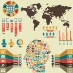 Infographic of social media — Stock Vector