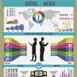 Stock Vector: Infographic of social media
