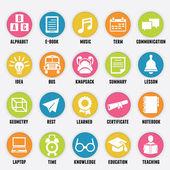 Conjunto de ícones de educação - parte 2 — Vetor de Stock