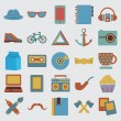 Royalty-Free Stock Vector Image: Set of hipster symbol
