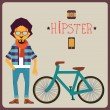 Concept of hipster — Stock Vector