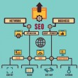 Infographic of Seo process — Stock Vector