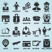 Satz von marketing internet und symbole - teil 1 — Stockvektor