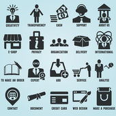 Set van marketing internet en dienst pictogrammen - deel 1 — Stockvector