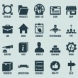 Set of marketing internet and service icons - part 2 — Stok Vektör
