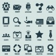 Set of marketing internet and service icons - part 3 - Stock Vector