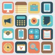 Set of application of social media. Flat icons — Stockvektor