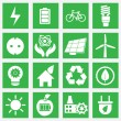 Stock Vector: Set of energy saving icons - part 1