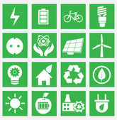 Set of energy saving icons - part 1 — Stock Vector