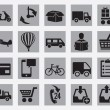 Set of different delivery icons — Stock Vector