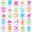 Stock Vector: Set of seo and internet service icons - part 8