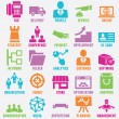 Stock Vector: Set of seo and internet service icons - part 7