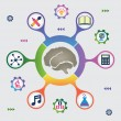 Stock Vector: Infographic of brain resources