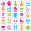 Stock Vector: Set of seo and internet service icons - part 9