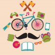 Hipster style elements — Stock Vector