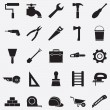 Stock Vector: Set of construction tools icons