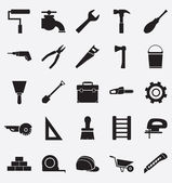 Set of construction tools icons — Stock Vector