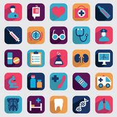 Set of flat medical icons for design — Stock Vector