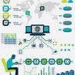 Infographic of network analytics — Stock Vector