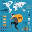 Infographic of info piracy — Stock Vector
