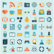 Stock Vector: Set of flat social media icons - part 2