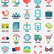 Set of media service flat icons - part 1 — Stock Vector #33000127