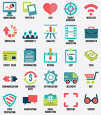 Set of media service flat icons - part 1 — Stock Vector